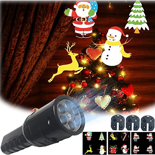 Fresh Household Projector Flashlight for Kids, 3 Patterns Light Projection for Halloween Chtistmas Holiday Decoration Power by Battery]()