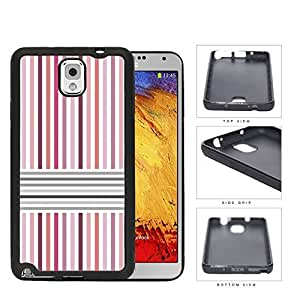 Pink And Gray Parallel Lines Rubber Silicone TPU Cell Phone Case Samsung Galaxy Note 3 III N9000 N9002 N9005