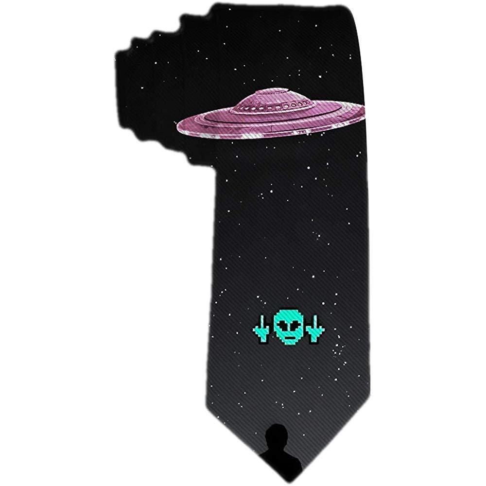 Corbata de hombre S Divertido verde alienígeNA y rosa alienígeNA ...