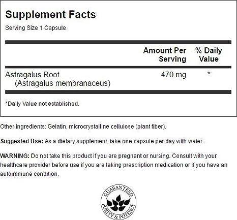 Amazon.com: Swanson Astragalus Root 470 Milligrams 100 Capsules ...