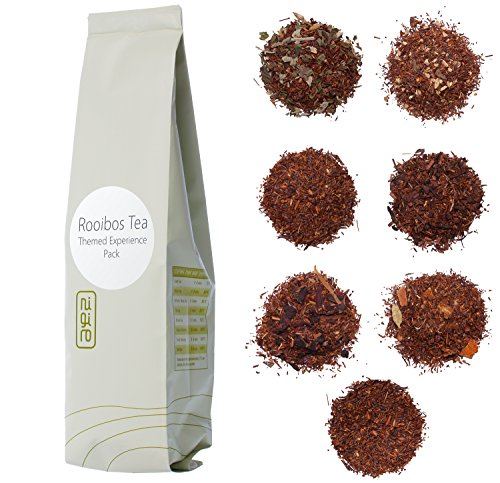 Nigiro Rooibos Tea Experience Sampler Pack (7-teas) | 2-cups per Sample | Ultra Loose Tea Leaf (Honey Flavored Decaf Coffee)