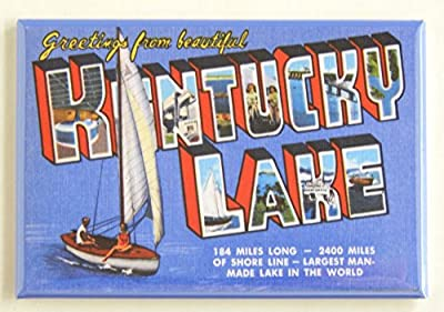 Greetings From Kentucky Lake (Sailboat) Fridge Magnet (2 x 3 inches)