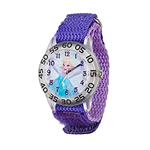 Disney Frozen Elsa Girl's Plastic Time Teacher Watch