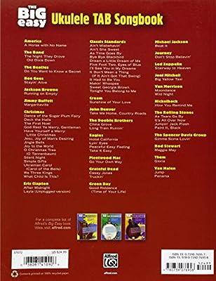 The Big Easy Ukulele Tab Songbook 62 Songs Rock Pop