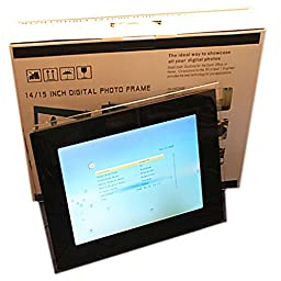 15 Inch Digital Photo Frame with Remote Controller Resolution 1024x768 ( Black )