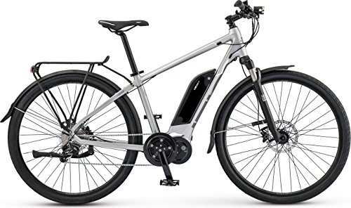 Cheap IZIP E3 Dash 700C Class 3 Electric Commuter Road Bike with 350W Currie Electro-Drive Centerdrive Motor and 48V, 417Wh Lithium Battery, 2017 Model, Silver, 19″/Large