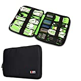 BUBM Universal Cable Organizer Electronics Accessories Case USB Drive Shuttle/ Healthcare & Grooming Kit (Black)