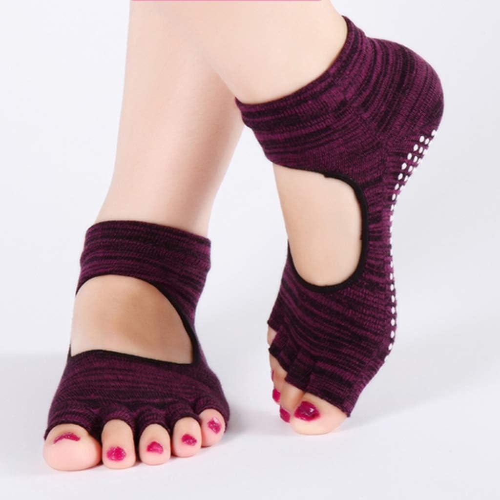 Amazon.com: Happy Time Yoga Socks, Open Toe Socks, Pilates ...
