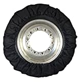 Real Skin Tire Cover, 4 Piece, Black