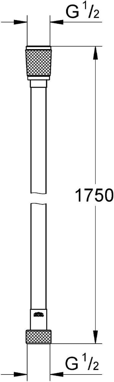 27668000 160mm Durchmesser 4+ Strahlarten ,1,75m Silverflex GROHE Power/&Soul Cosmopolitan Handbrause Brauseschlauch 28388000 Edelstahloptik,