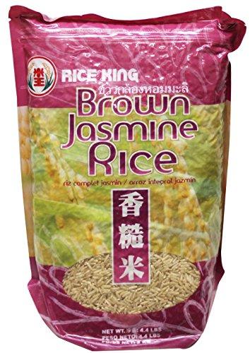 Brown Jasmine Rice (Hom Mali) - 4.4 Lbs (Pack of 1) by Rice King