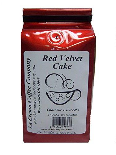 La Crema Coffee Institution 2 Piece Cake, Red Velvet,  12 Ounce
