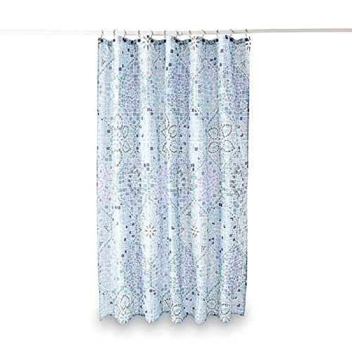 Kmart Polyester Shower Curtain (Essential Home Moroccan Tile Fabric Shower Curtain)
