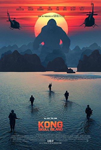 Kong Skull Island Movie Poster 2 Sided Original Final Tom Hiddleston