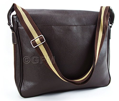 GFM Fashion - Bolso al hombro para hombre Style 1 - Coffee Brown (CF).