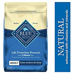 Formulated for the health and well-being of dogs, BLUE Life Protection Formula Dry Dog Food is made with the finest natural ingredients enhanced with vitamins and minerals. It contains the ingredients you'll love feeding as much as they'll lo...