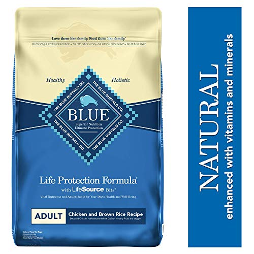Blue Buffalo Life Protection Formula Adult Dog Food - Natural Dry Dog Food for Adult Dogs - Chicken and Brown Rice - 30 lb. Bag (Brown Rice In Dog Food Good Or Bad)
