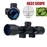 Crossbow Gun with Scope - UUQ Tactical 4X32 Compact .223 .308 Scope Rangefinder Reticle/w Ring Mounts