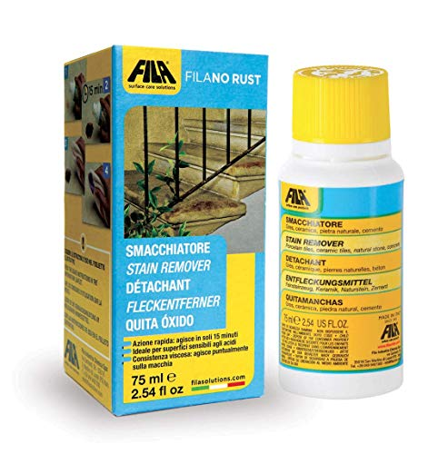 FILA Surface Care Solutions Stain FILA Remove Rust from Marble, Granite, Natural Stone, Agglomerates, Porcelain Tiles, Terracotta and - Cotta Porcelain Tile Terra