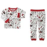 Mud Pie Unisex Very Merry Christmas Pajamas (Infant/Toddler) Red 12-18 Months
