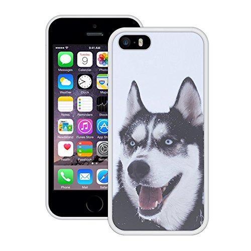 Wolf | Handgefertigt | iPhone 5 5s SE | Weiß Hülle