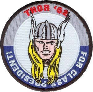 Thor - Thor for President - Marvel Comics - Iron on or Sew on Embroidered Patch