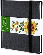 Ohuhu Sketchbook Art Marker Pads, przenośny, kwadratowy rozmiar, 120 LB/200 GSM solidny, gładki szkicownik, papier do rysowania, 78 arkuszy/ 156 stron, szkicownik w twardej oprawie