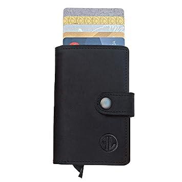 62ce084783d1e Premium Geldbörse aus hochwertigem Echt-Leder – kombiniert mit einem  Kreditkartenetui Optimales Herren Portmonaie mit