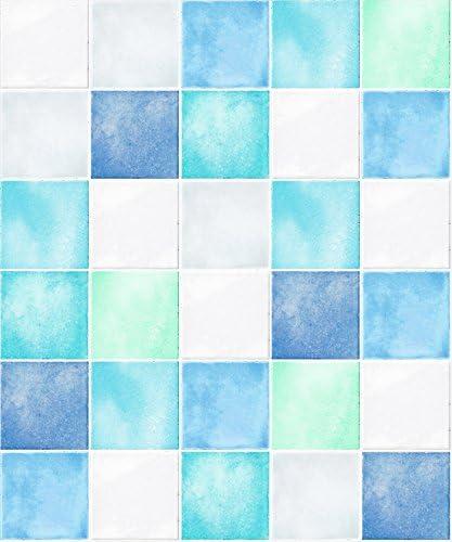 FIXPIX 壁紙シール タイル模様 ブルー 50cm×3m HWP-21623はがせる壁紙 シールタイプ