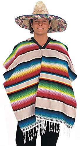Rubie's Men's Standard Mexican Serape (Poncho), Multicolor One Size ()