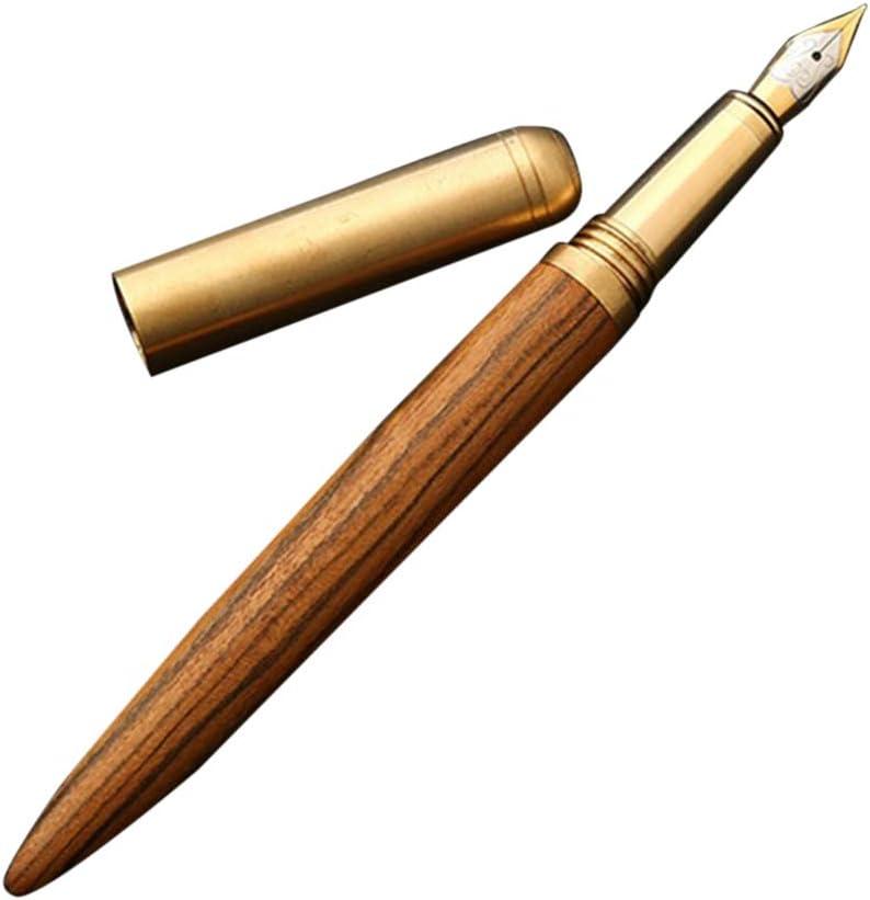 hearsbeauty Stylo Plume En Bois Artisanal Vintage 0,7 Mm Plumes Signature /écriture Mode Exquis Cadeau De D/écoration Daffaires Camwood