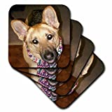 Sandy Mertens German Shepherd Unconditional Love Ceramic Tile Coaster, Set of 4