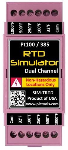 RTD Temperature Simulator and Tester Dual Channel with DIN Rail Mount