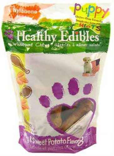 Nylabone Healthy Edibles Puppy Chews, Turkey and Sweet Potato, Petite, 8-Count Pouch