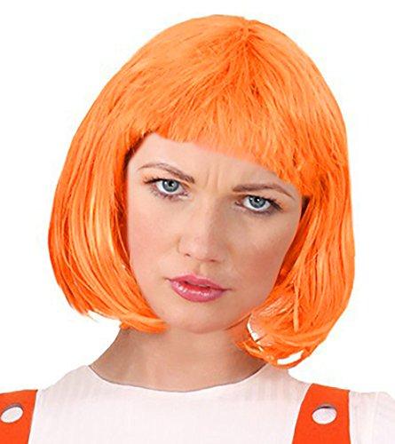 [Orange Bob Wig Leeloo Costume Leeloo Wig 5th Element Costume Leeloo Costume] (Leeloo Cosplay Costume)