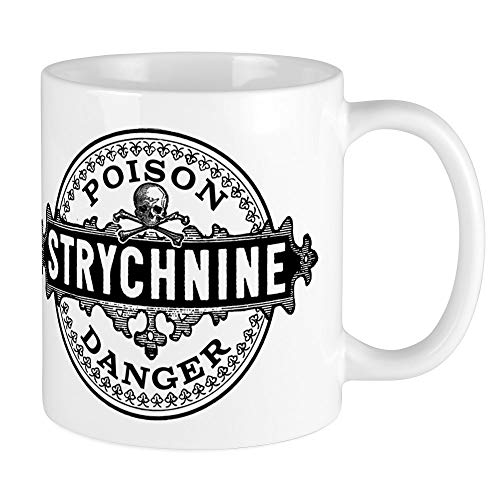 CafePress Halloween Poison Label Strychnine Mugs Unique Coffee Mug, Coffee Cup -