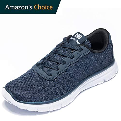 Anbenser Mens Lightweight Running Shoes Arch Support Removable Sockliner Outdoor Athletic Walking Shoe(Dark Blue,15 D(M)) ()