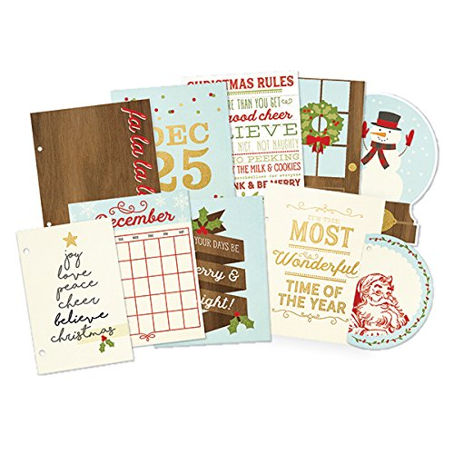 Sn@P! Foiled Pages 10/Pkg-Classic Christmas W/Gold Accents by Simple