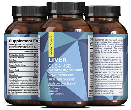 Natures Craft Natural Liver Support Dietary Supplements Promote Liver Health & Weight Loss For Men & Women with Milk Thistle + Dandelion + Artichoke Complex - Detox Cleanse Vitamins Boost Metabolism