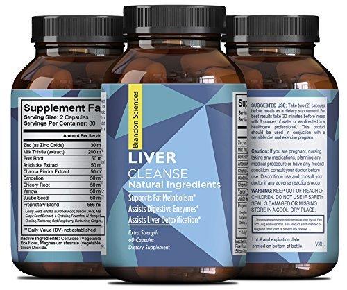Natural Liver Support Dietary Supplements Promote Liver Health & Weight Loss For Men & Women - Milk Thistle + Dandelion + Artichoke Complex - Detox Cleanse Vitamins Boost Metabolism - Brandon Sciences ()