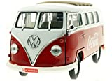 Motor City Classics 1962 Volkswagen Samba Bus (1:18 Scale), Red