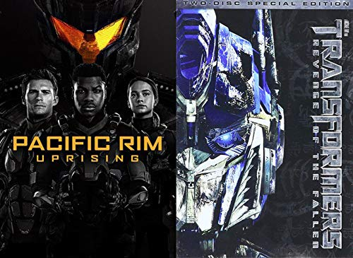 Heavy Machinery/ Robots Under and Out of Control: Pacific Rim Uprising + Transformers Revenge of the Fallen- 2 Disc Special Edition (2 Feature Film DVD Bundle)