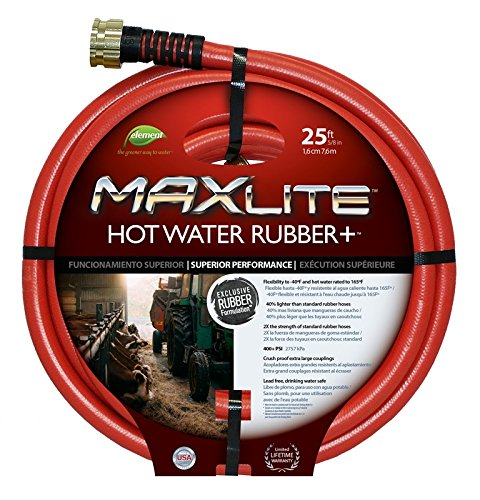 MAXLite Hot Water Hose 25 ft with 5/8 diameter, Lead-Free and Drinking Water Safe (Swan Water Hose)