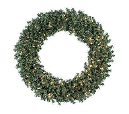 """48"""" Douglas Fir Prelit Wreath w/Clear Lights byVickerman"""