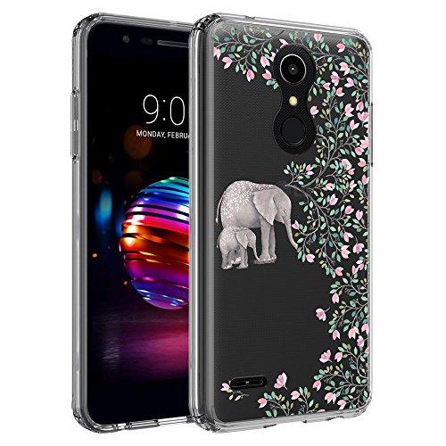 LG K10 2018 Case, LG K30 Case, LG Premier Pro LTE Case, LG K10 Alpha Case, SYONER [Scratch Resistant] Ultra Slim Clear Protective Phone Case Cover [Elephant]