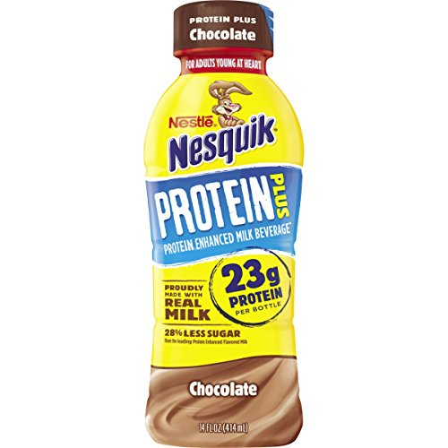 Nesquik Protein Plus Chocolate Flavored Low Fat Milk, 14 fl oz by Nesquik