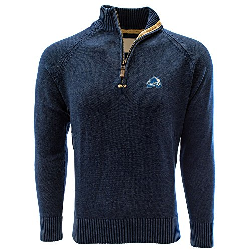 Levelwear LEY9R NHL Colorado Avalanche Adult Men Excalibur Quarter Zip Sweater, Small, Navy