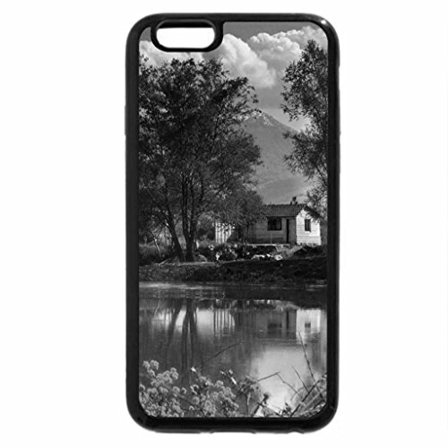 iPhone 6S Plus Case, iPhone 6 Plus Case (Black & White) - House by the river
