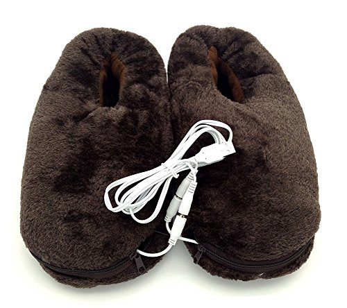 USB Heating Slipper,Electric Heated Pad Shoes Soft Wear for Feet Keep Warm Indoor Home,1 Pair