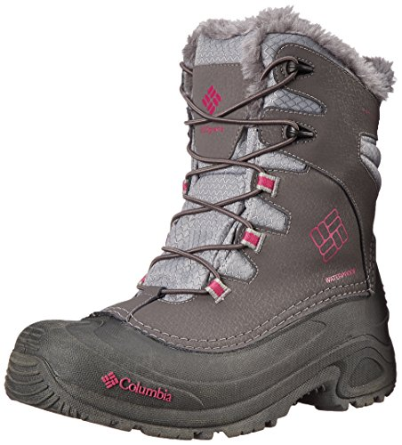 Columbia Unisex-Kinder Youth Bugaboot Plus III Omni-Heat Grau (Shale/Deep Blush 051)